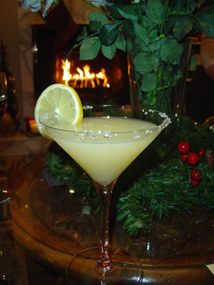 The TDBAB Lemon Drop Martini at Christmas